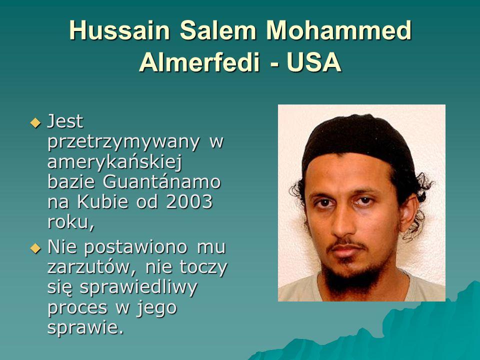 Hussain Salem Mohammed Almerfedi - USA