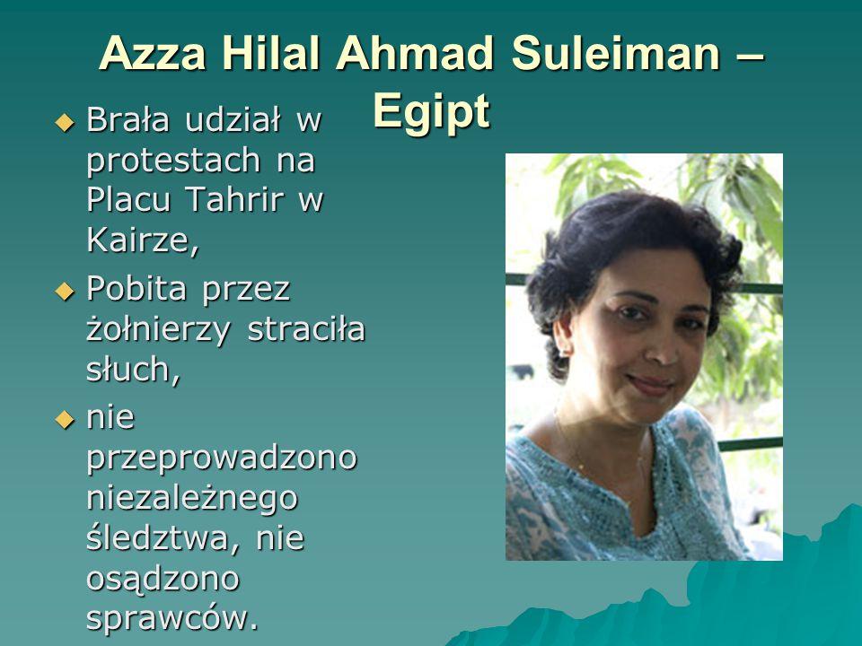 Azza Hilal Ahmad Suleiman – Egipt
