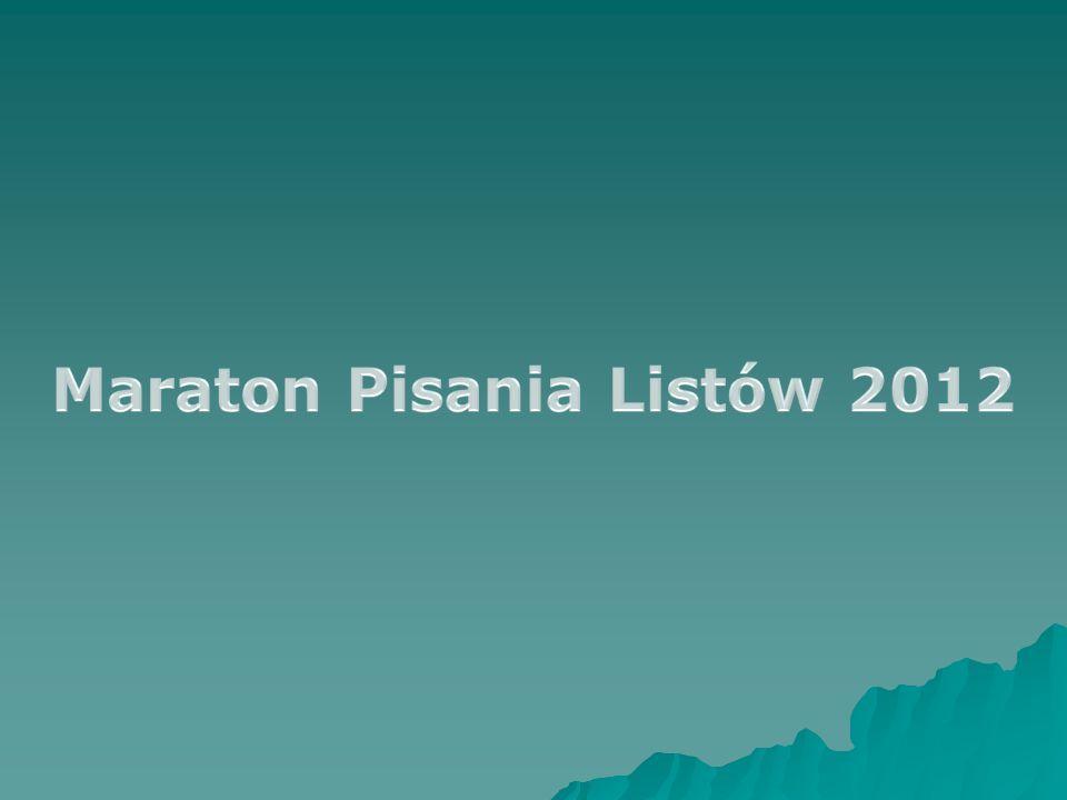Maraton Pisania Listów 2012