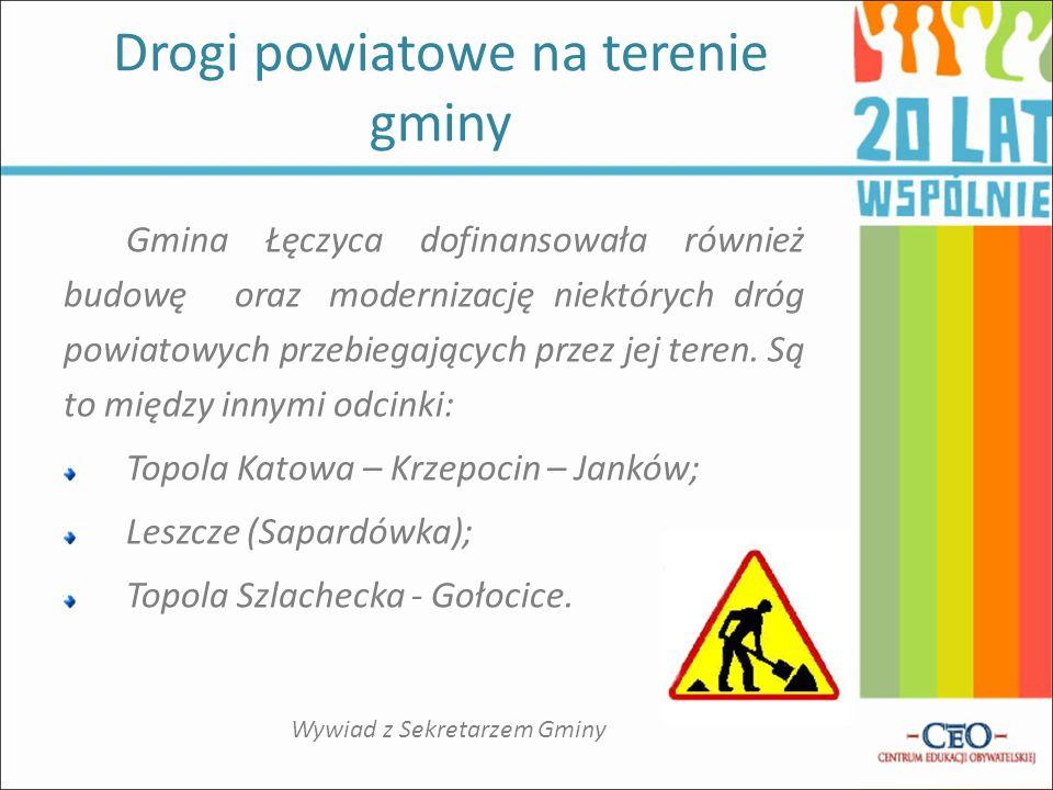 Drogi powiatowe na terenie gminy