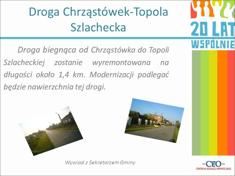 Droga Chrząstówek-Topola Szlachecka
