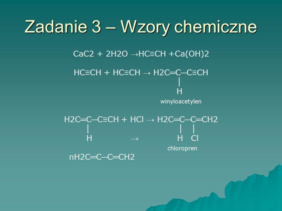 Zadanie 3 – Wzory chemiczne