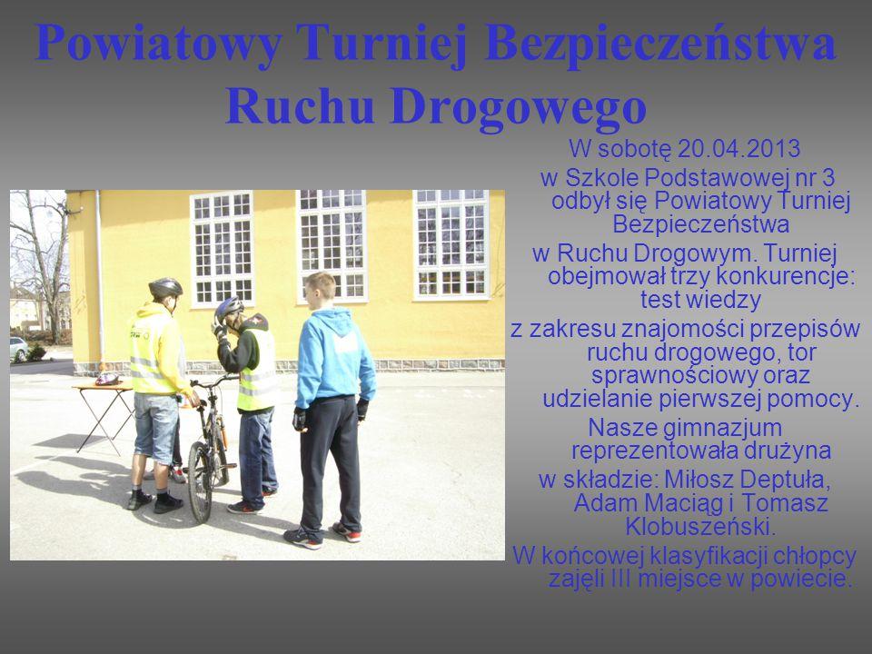 Powiatowy Turniej Bezpieczeństwa Ruchu Drogowego