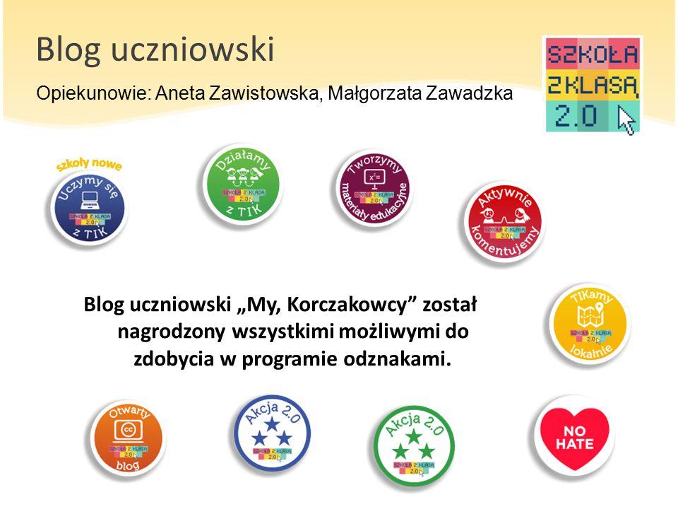 Blog uczniowski Opiekunowie: Aneta Zawistowska, Małgorzata Zawadzka.