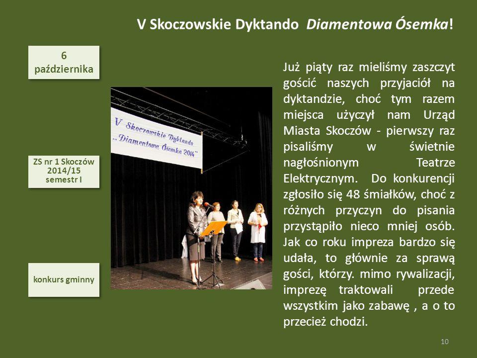 V Skoczowskie Dyktando Diamentowa Ósemka!