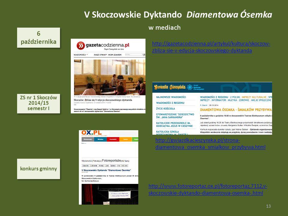 V Skoczowskie Dyktando Diamentowa Ósemka