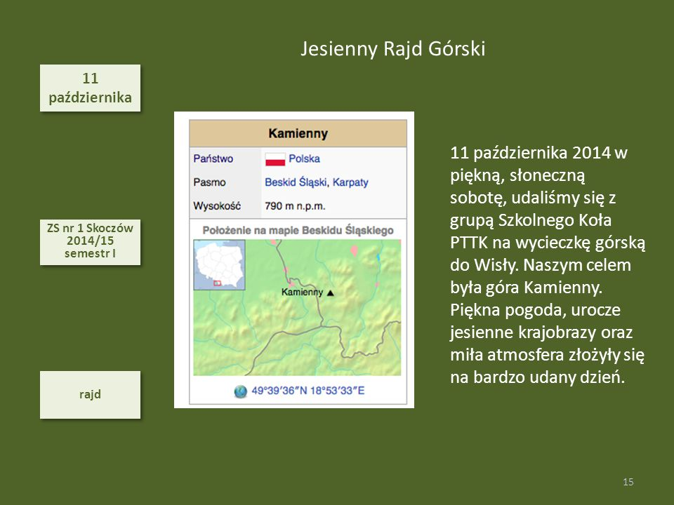 Jesienny Rajd Górski 11. października.