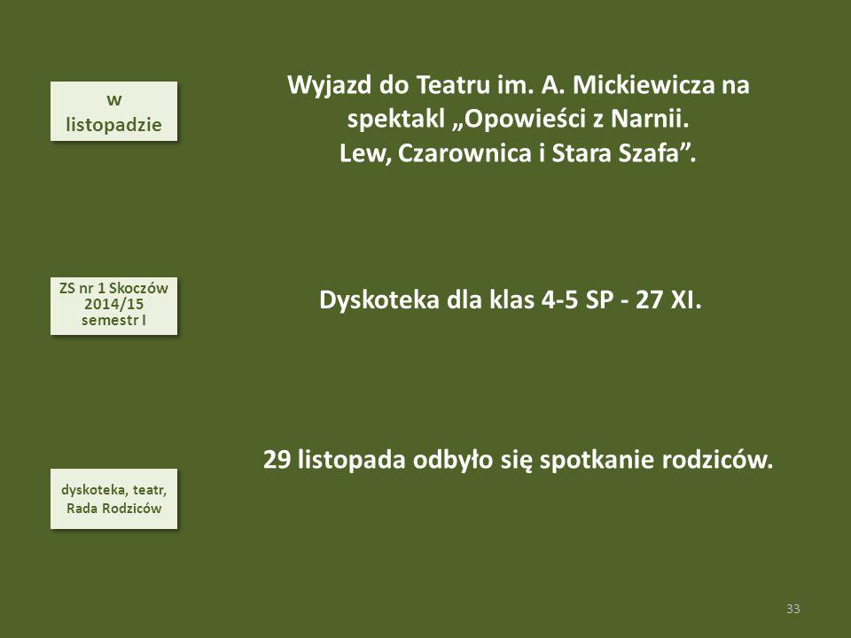 """Wyjazd do Teatru im. A. Mickiewicza na spektakl """"Opowieści z Narnii."""