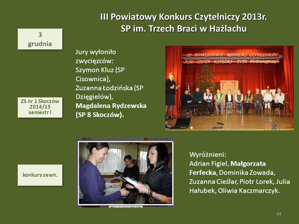 III Powiatowy Konkurs Czytelniczy 2013r.