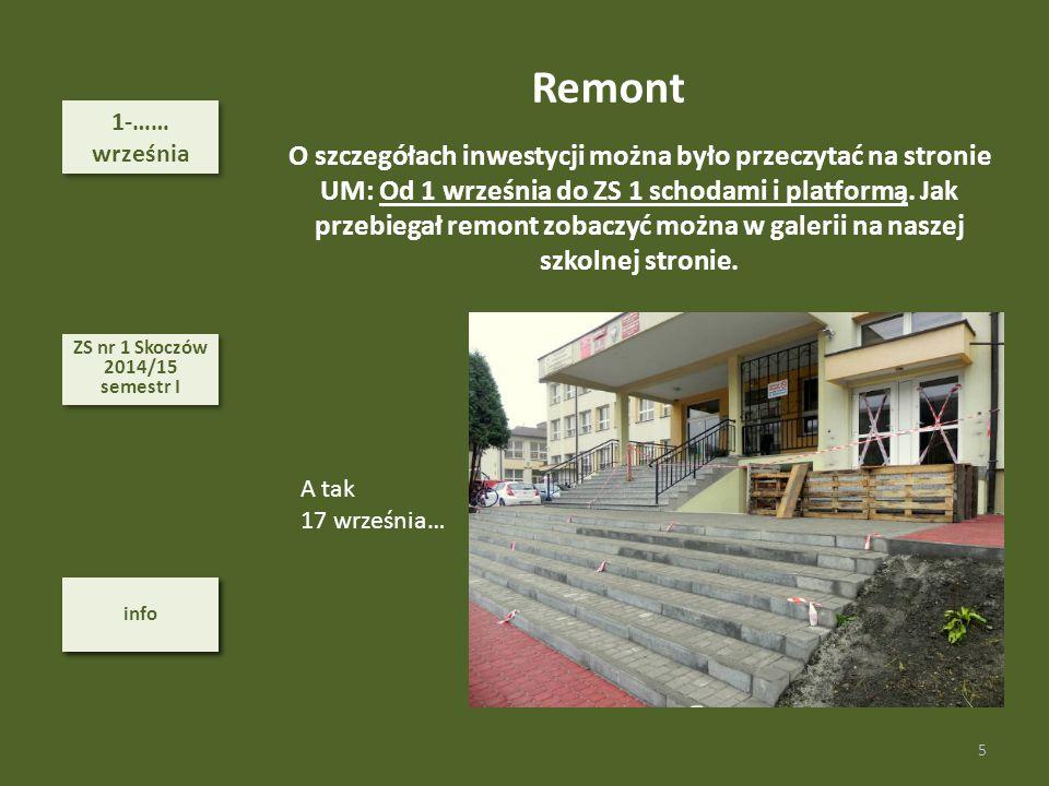 Remont 1-…… września.