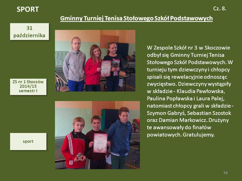 SPORT Gminny Turniej Tenisa Stołowego Szkół Podstawowych Cz. 8. 31