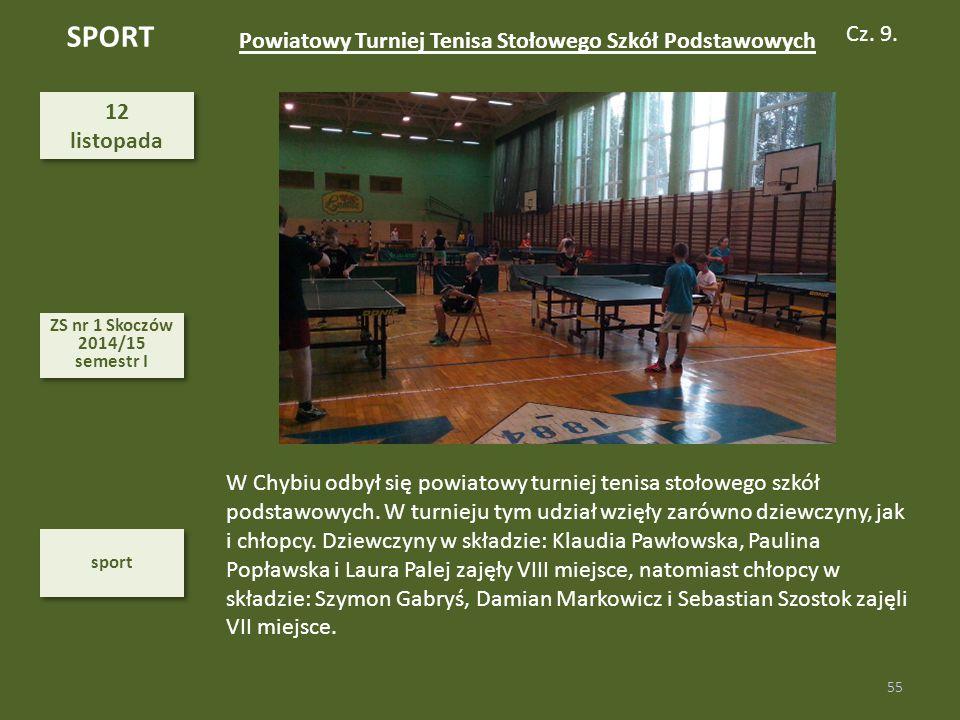 SPORT Cz. 9. Powiatowy Turniej Tenisa Stołowego Szkół Podstawowych 12