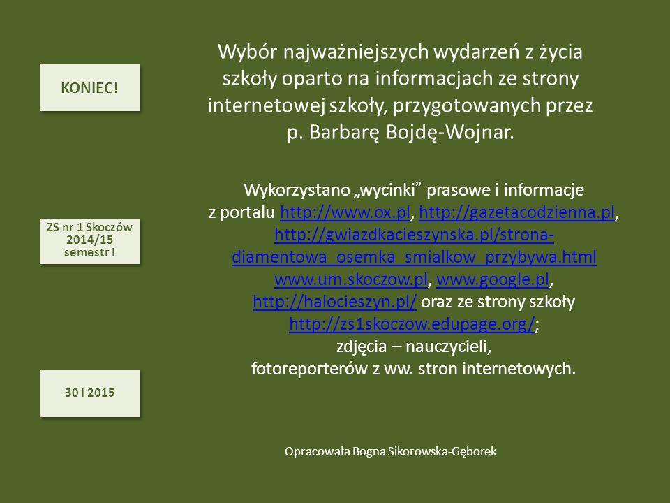 p. Barbarę Bojdę-Wojnar.