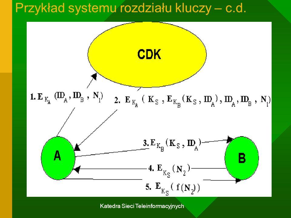 Przykład systemu rozdziału kluczy – c.d.