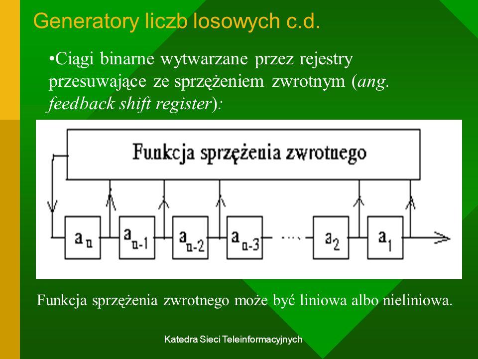 Generatory liczb losowych c.d.