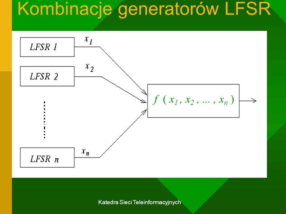 Kombinacje generatorów LFSR