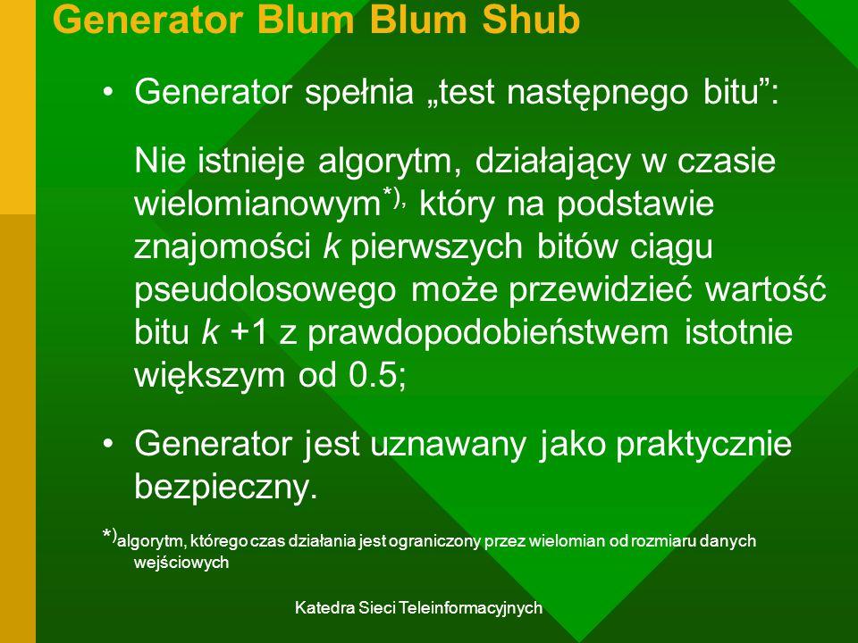 Generator Blum Blum Shub