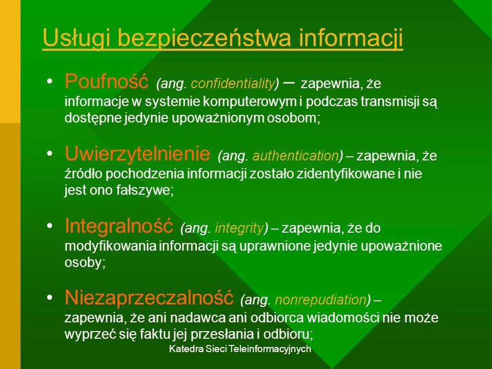 Usługi bezpieczeństwa informacji