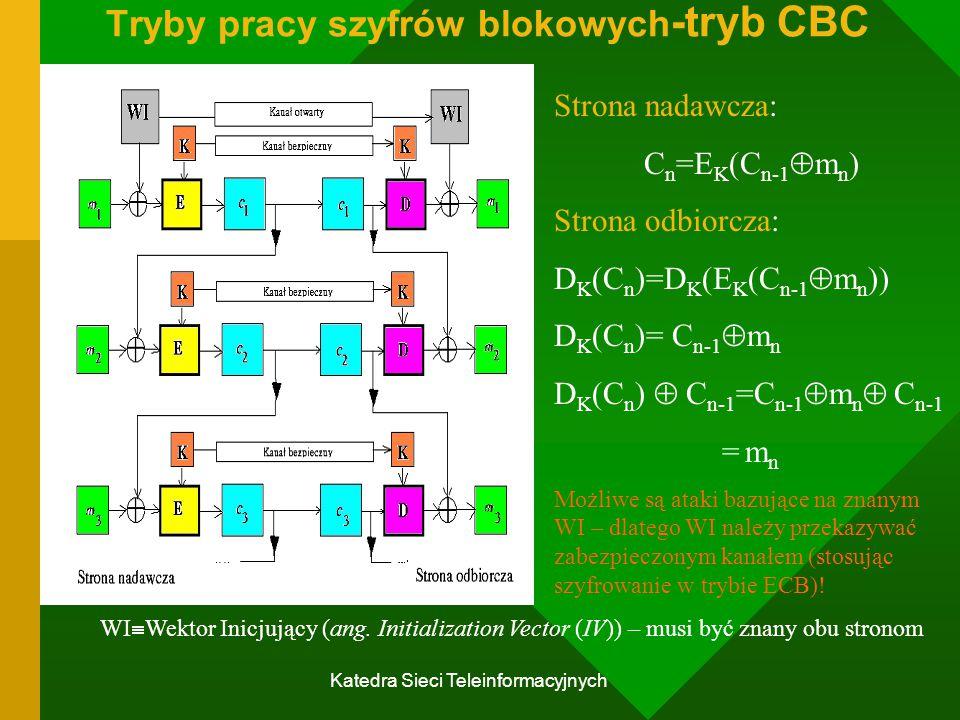 Tryby pracy szyfrów blokowych-tryb CBC