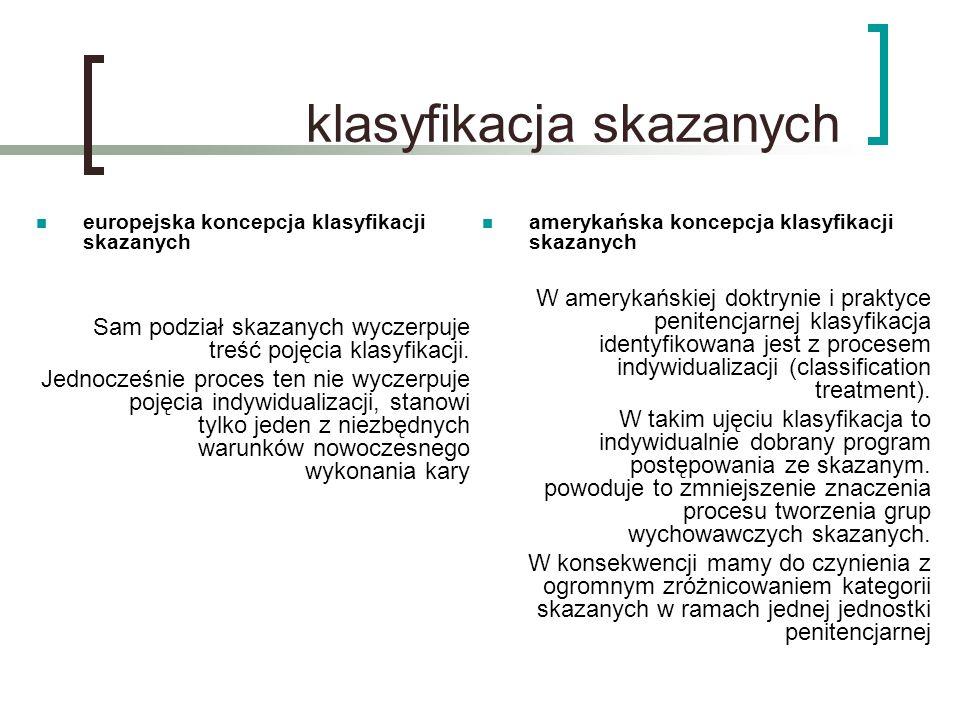 klasyfikacja skazanych