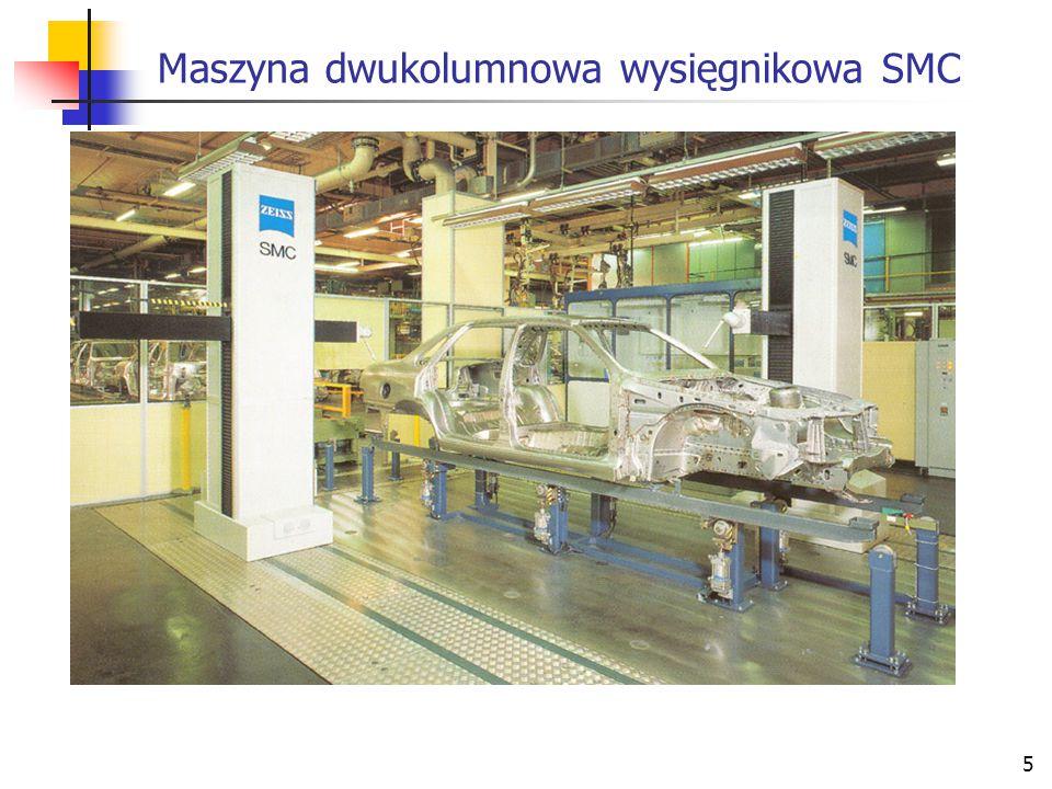 Maszyna dwukolumnowa wysięgnikowa SMC