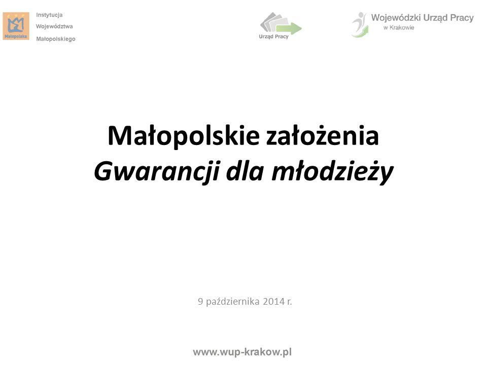 Małopolskie założenia Gwarancji dla młodzieży
