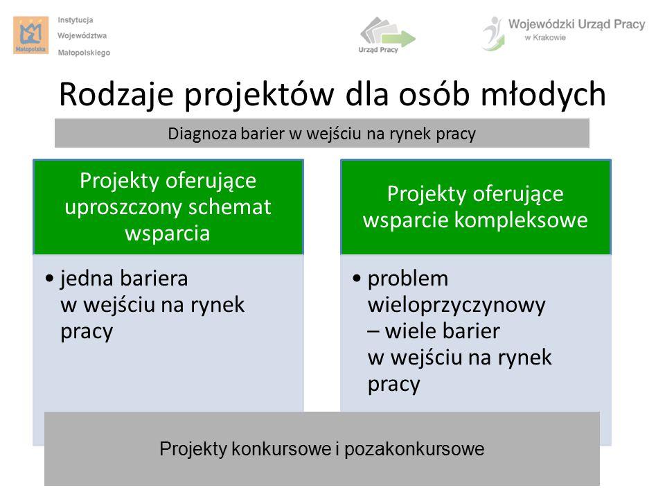 Rodzaje projektów dla osób młodych
