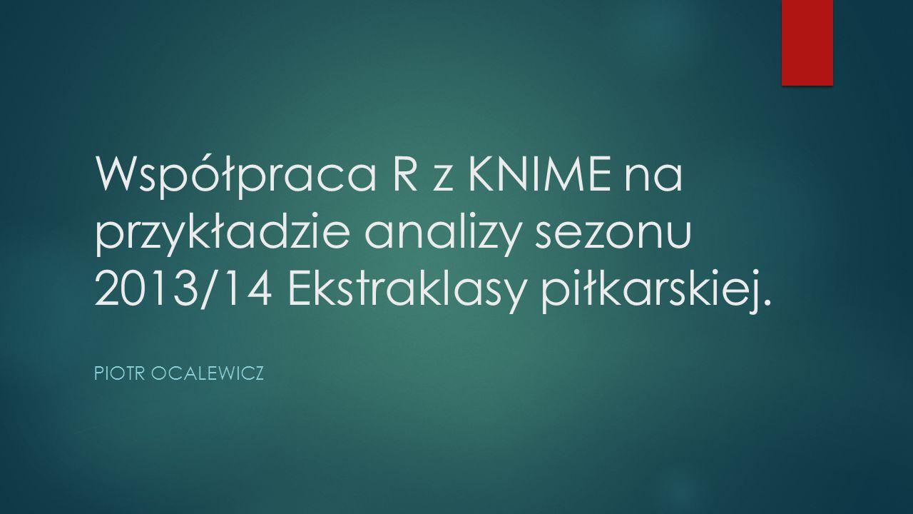Współpraca R z KNIME na przykładzie analizy sezonu 2013/14 Ekstraklasy piłkarskiej.