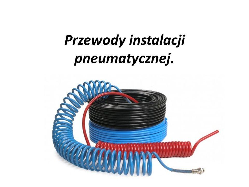 Przewody instalacji pneumatycznej.
