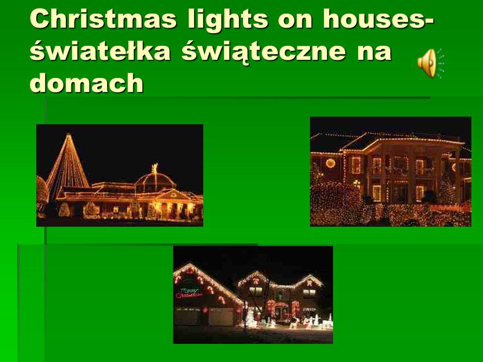 Christmas lights on houses- światełka świąteczne na domach