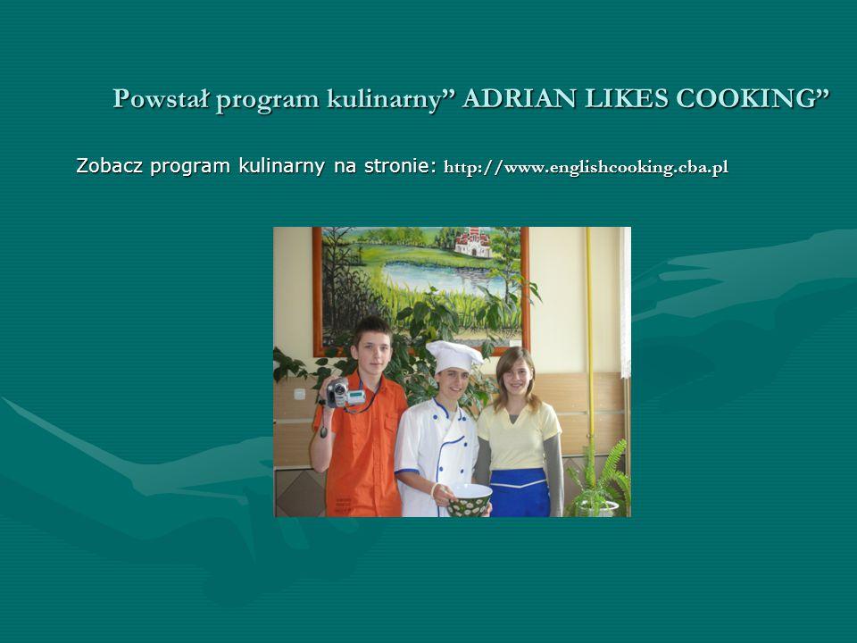 Powstał program kulinarny ADRIAN LIKES COOKING