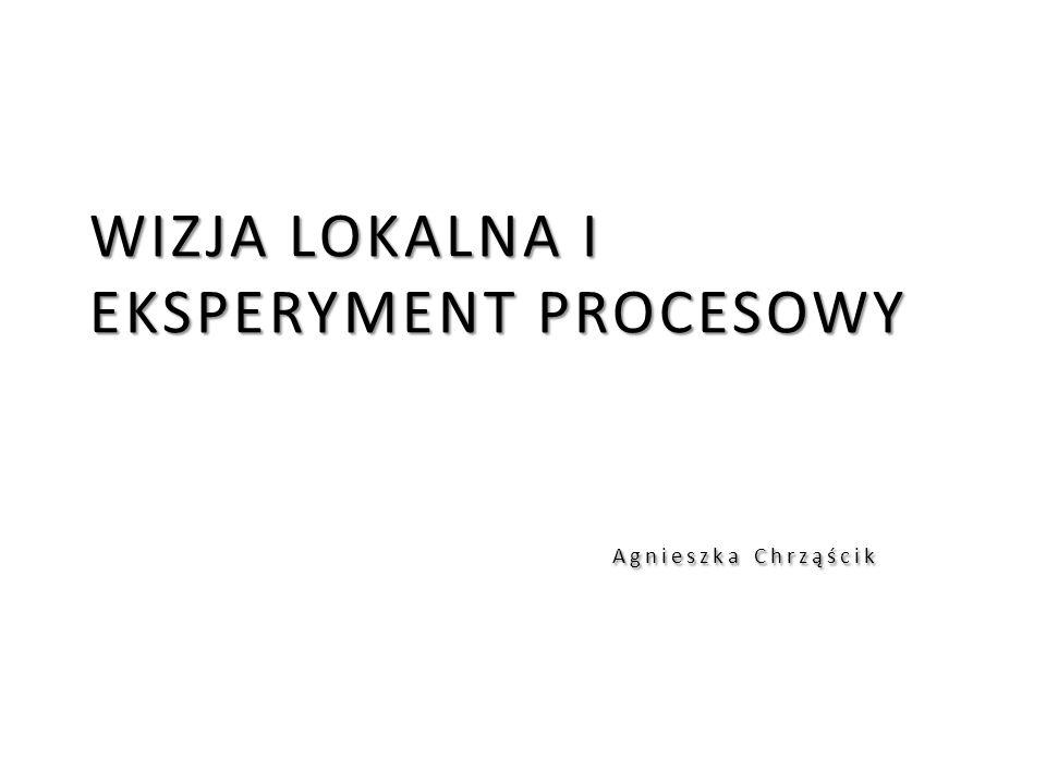 WIZJA LOKALNA I EKSPERYMENT PROCESOWY Agnieszka Chrząścik