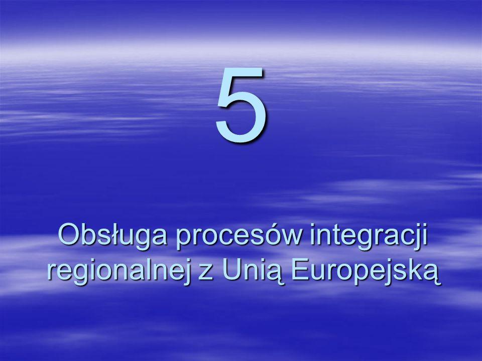Obsługa procesów integracji regionalnej z Unią Europejską
