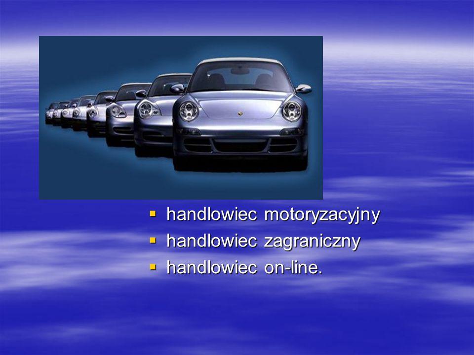 handlowiec motoryzacyjny