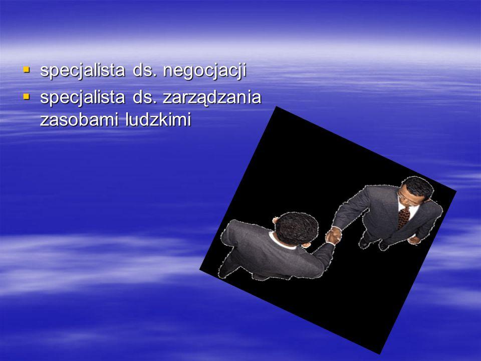 specjalista ds. negocjacji