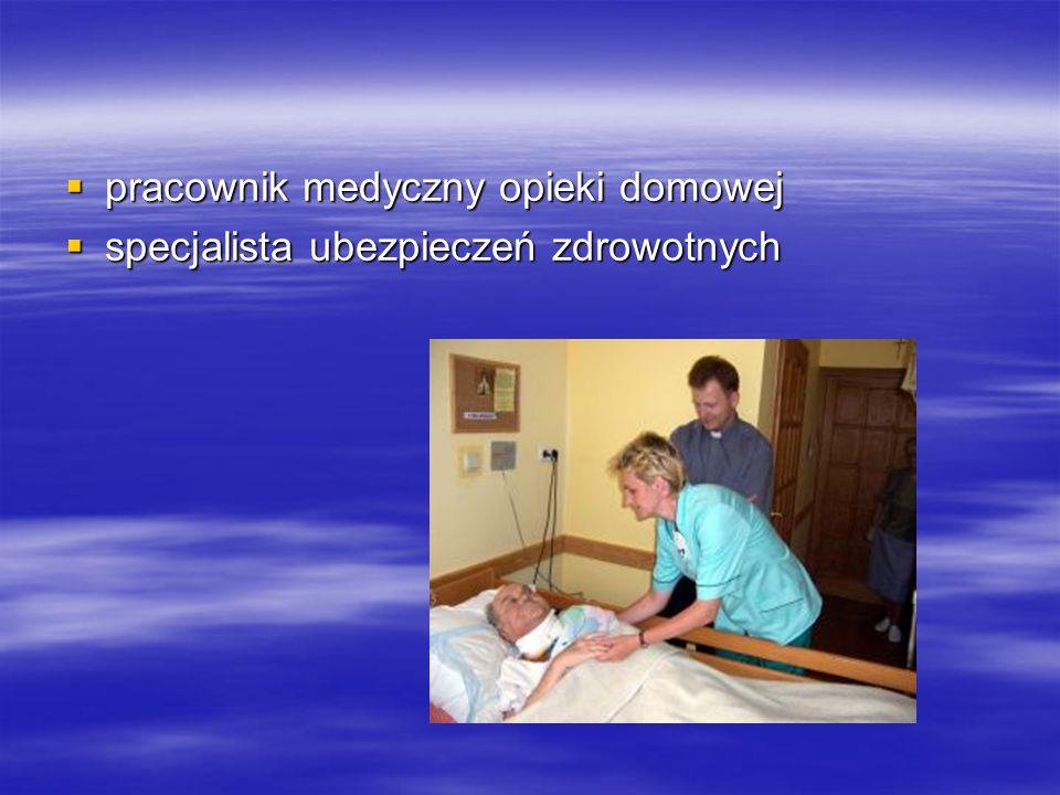 pracownik medyczny opieki domowej