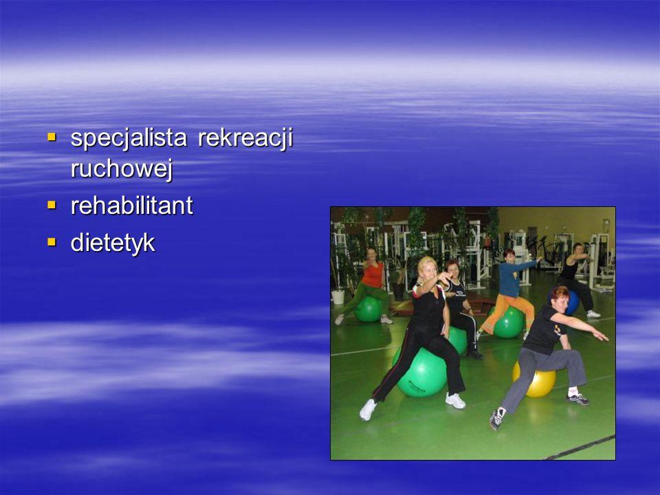 specjalista rekreacji ruchowej