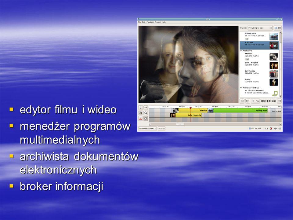 edytor filmu i wideo menedżer programów multimedialnych.