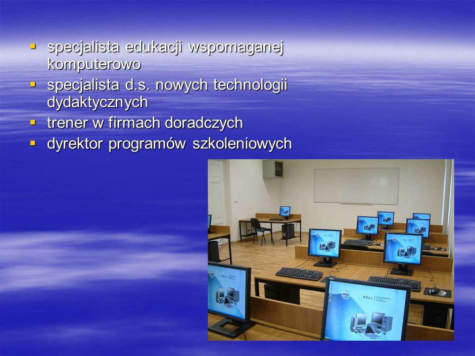 specjalista edukacji wspomaganej komputerowo