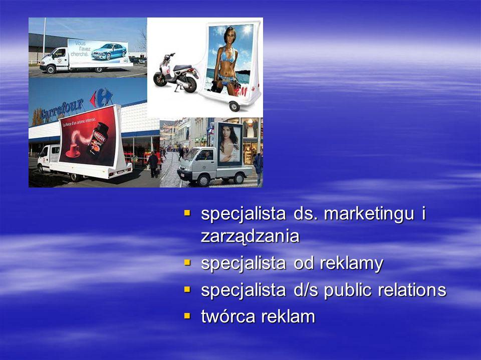 specjalista ds. marketingu i zarządzania