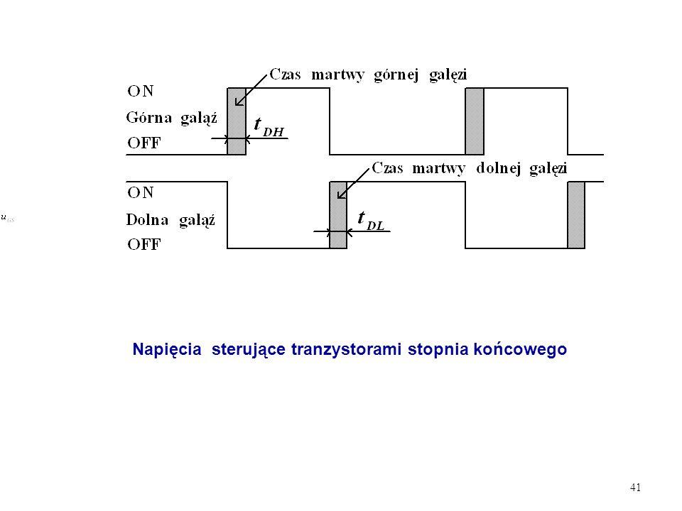 Napięcia sterujące tranzystorami stopnia końcowego