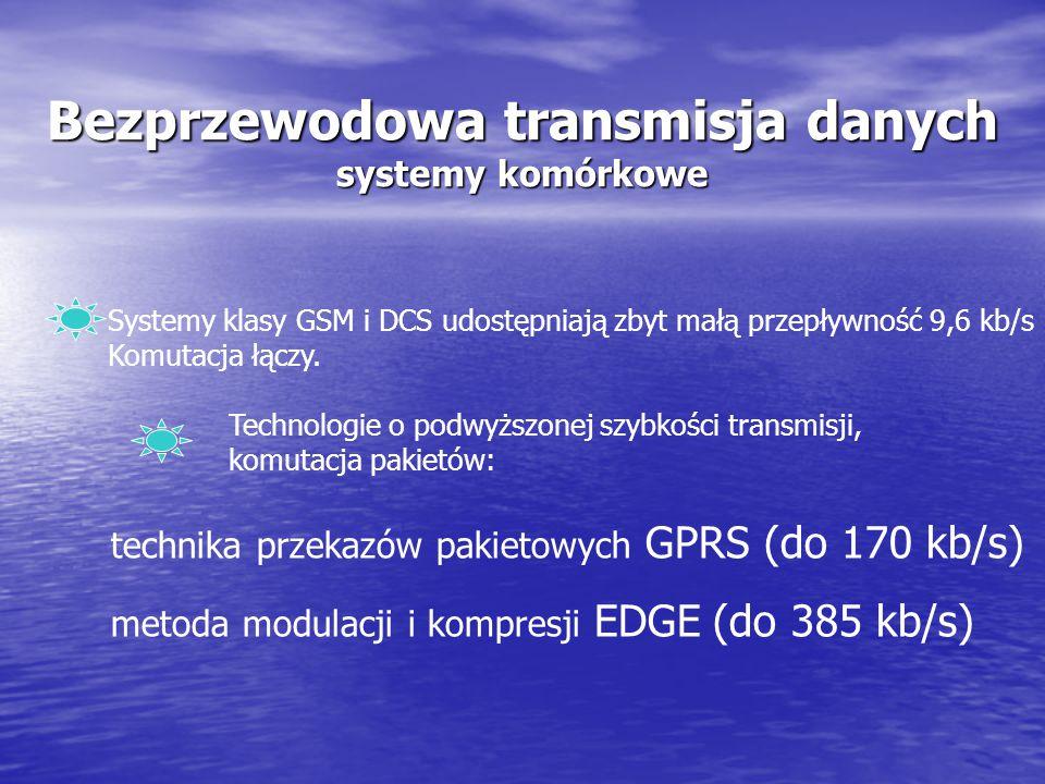 Bezprzewodowa transmisja danych systemy komórkowe