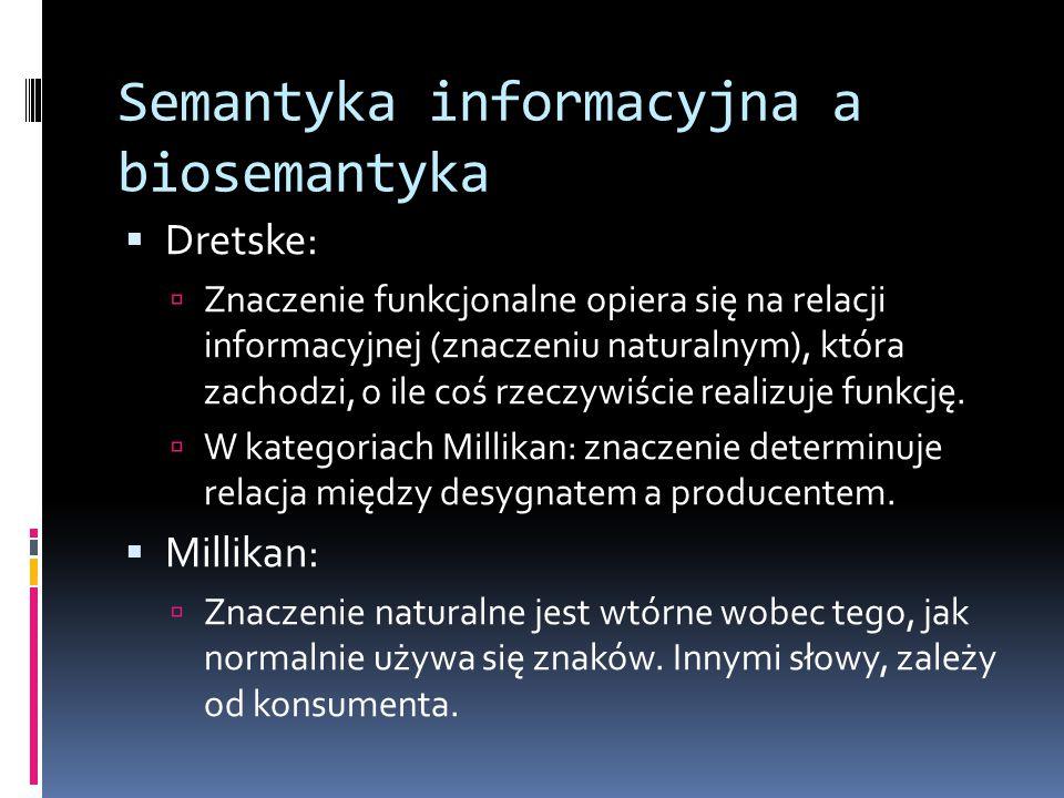 Semantyka informacyjna a biosemantyka