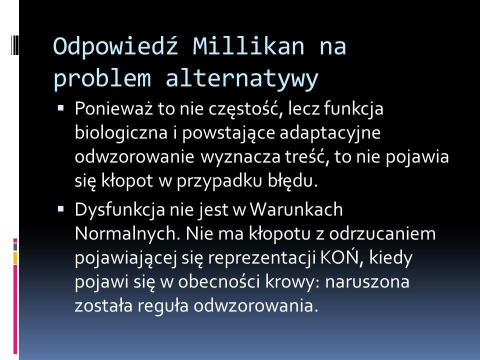 Odpowiedź Millikan na problem alternatywy