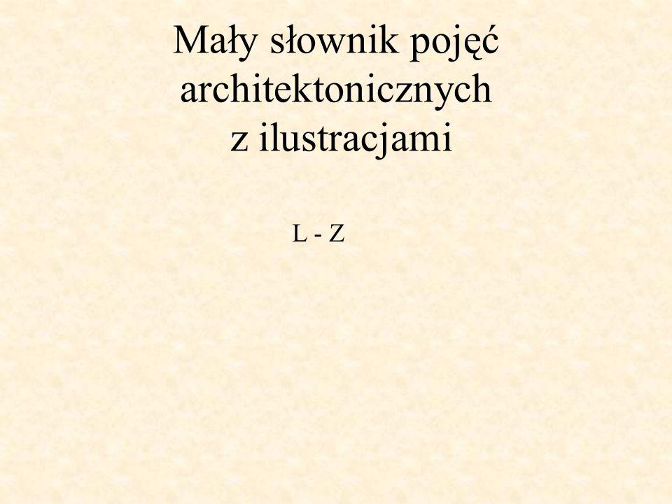 Mały słownik pojęć architektonicznych z ilustracjami