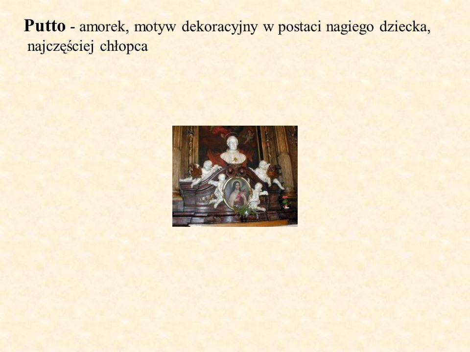 Putto - amorek, motyw dekoracyjny w postaci nagiego dziecka,