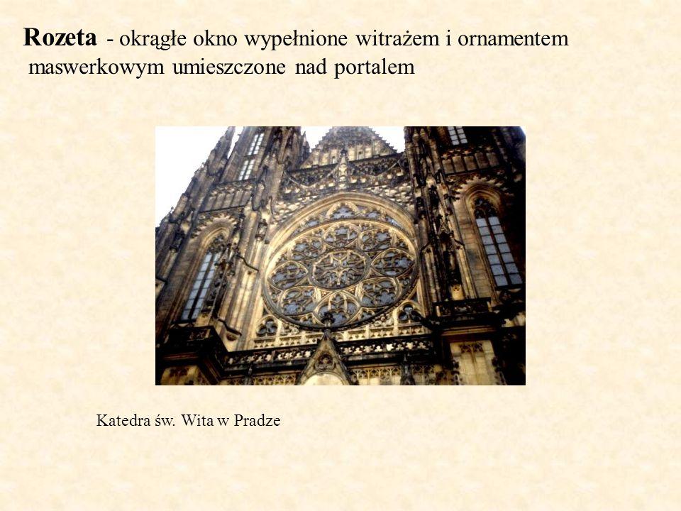 Rozeta - okrągłe okno wypełnione witrażem i ornamentem