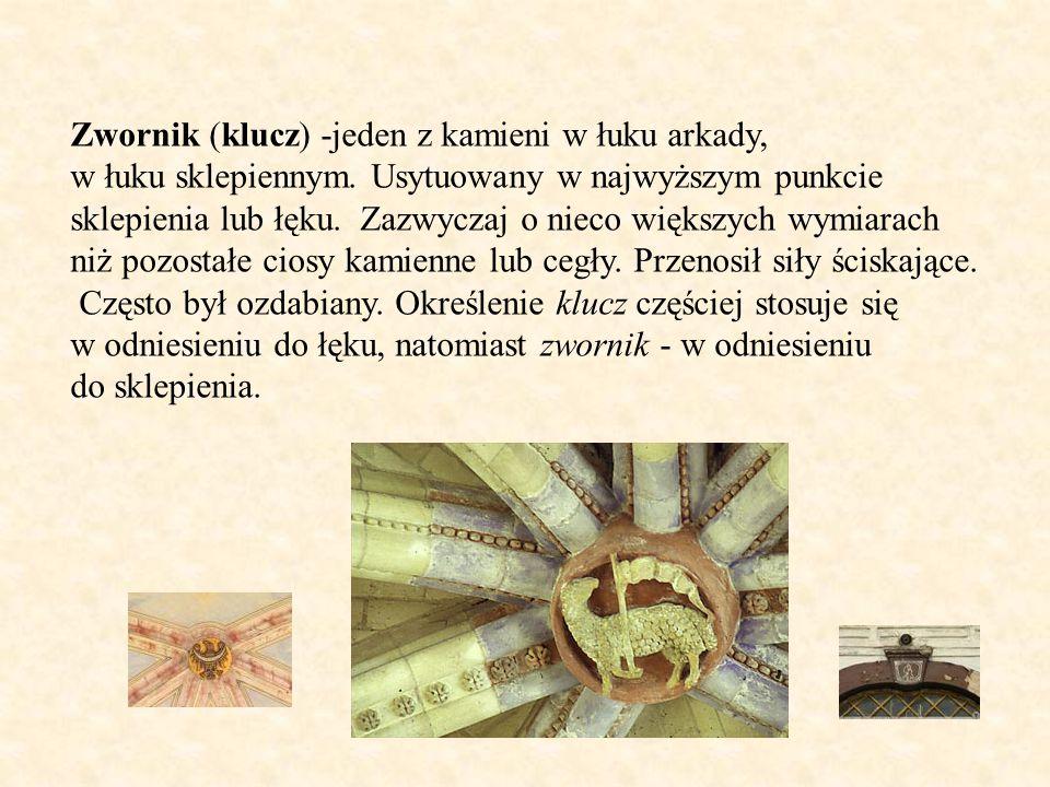 Zwornik (klucz) -jeden z kamieni w łuku arkady,