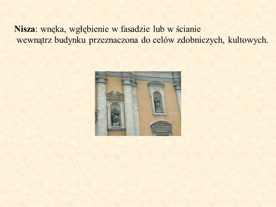 Nisza: wnęka, wgłębienie w fasadzie lub w ścianie