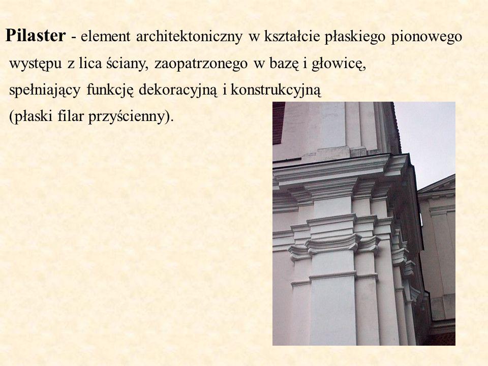 Pilaster - element architektoniczny w kształcie płaskiego pionowego